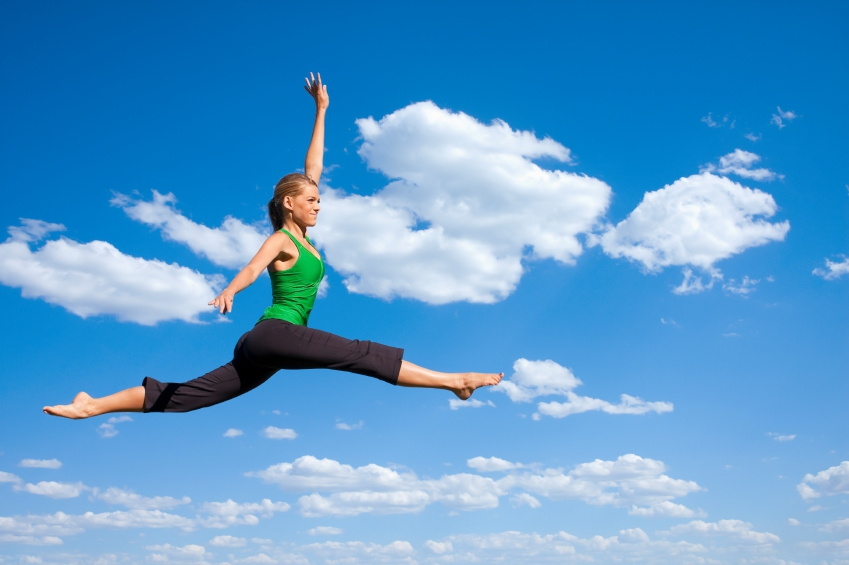 jumping flexible woman iStock_000014232948_Small